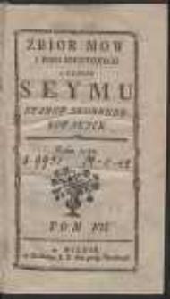 Zbior mow i pism niektorych w czasie seymu stanow skonfederowanych roku 1789. T. 7