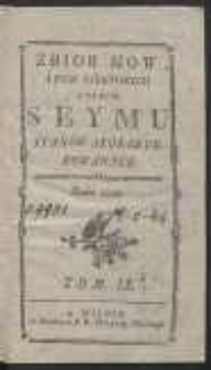 Zbior mow i pism niektorych w czasie seymu stanow skonfederowanych roku 1789. T. 9
