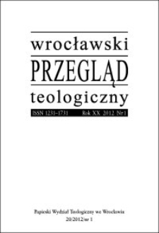 Wrocławski Przegląd Teologiczny. R. 21 (2013), nr 1