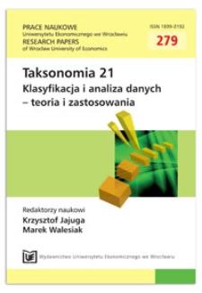 Zastosowanie jednowymiarowej sieci SOM do wyboru cech zmiennych w grupowaniu dynamicznym. Prace Naukowe Uniwersytetu Ekonomicznego we Wrocławiu = Research Papers of Wrocław University of Economics, 2013, Nr 279, s. 48-57