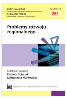 Polityka rozwoju metropolitalnego regionu. Prace Naukowe Uniwersytetu Ekonomicznego we Wrocławiu = Research Papers of Wrocław University of Economics, 2013, Nr 281, s. 57-73