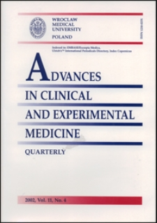 Advances in Clinical and Experimental Medicine, Vol. 11, 2002, nr 4