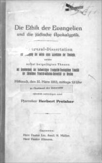 Die Ethik der Evangelien und die jüdische Apokalyptik