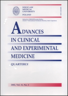 Advances in Clinical and Experimental Medicine, Vol. 11, 2002, nr 3