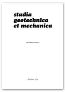 Studia Geotechnica et Mechanica, Vol. 36, 2014, nr 2