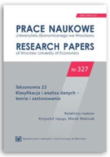 Efektywność metody k−średnich w zależności od separowalności grup. Prace Naukowe Uniwersytetu Ekonomicznego we Wrocławiu = Research Papers of Wrocław University of Economics, 2014, Nr 327, s. 23-29