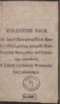 Wyłozenie Nauk dla Szkoł Nowodworskich Krakowskich : podłog przepisu Przeświętney Kommissyi nad Eukacyą Narodową w Tabelli (na Szkoły Woiewodzkie) ułożonego. Ed. B