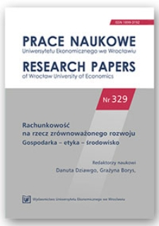 Etyka w rachunkowości a jakość sprawozdań finansowych. Prace Naukowe Uniwersytetu Ekonomicznego we Wrocławiu = Research Papers of Wrocław University of Economics, 2014, Nr 329, s. 161-171