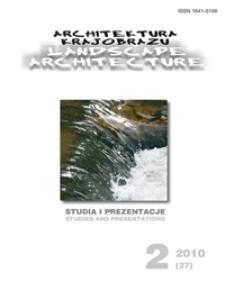 Architektura Krajobrazu : studia i prezentacje 2, 2010