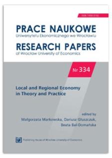 Socio-economic potential of Polish voivodship cities. Prace Naukowe Uniwersytetu Ekonomicznego we Wrocławiu = Research Papers of Wrocław University of Economics, 2014, Nr 334, s. 295-305