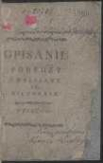 Opisanie Podrozy Z Warszawy Do Biłgoraja W Roku 1782. [Ed. B]