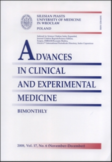 Advances in Clinical and Experimental Medicine, Vol. 17, 2008, nr 6