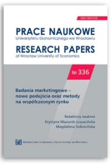 Możliwości wykorzystania obserwacji w Internecie w badaniach rynku e-usług. Prace Naukowe Uniwersytetu Ekonomicznego we Wrocławiu = Research Papers of Wrocław University of Economics, 2014, Nr 336, s. 348-357