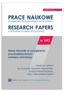 Zwiększanie świadomości procesowej wyzwaniem dla pracowników organizacji. Prace Naukowe Uniwersytetu Ekonomicznego we Wrocławiu = Research Papers of Wrocław University of Economics, 2014, Nr 340, s. 355-365