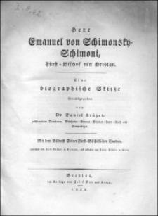 Herr Emanuel von Schimonsky-Schimoni, Fürst-Bischof von Breslau : eine biographische Skizze