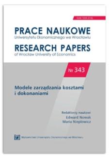 Zarządzanie kosztami podatkowymi w przedsiębiorstwie. Prace Naukowe Uniwersytetu Ekonomicznego we Wrocławiu = Research Papers of Wrocław University of Economics, 2014, Nr 343, s. 487-495