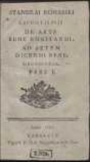 Stanislai Konarski E Scholis Pijs De Arte Bene Cogitandi, Ad Artem Dicendi Bene Necessaria. Ps 1-3
