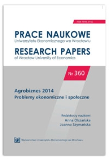 Procesy odnowienia majątku w gospodarstwach rolnych w Polsce w świetle wyników rachunkowości rolnej (FADN). Prace Naukowe Uniwersytetu Ekonomicznego we Wrocławiu = Research Papers of Wrocław University of Economics, 2014, Nr 360, s. 273-280