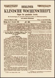 Weitere Erfahrungen über die Verwendung des Jodoforms in der Chirurgie, Berliner Klinische Wochenschrift, 1881, Jg. 8, No. 49, S. 721-725