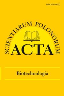 Acta Scientiarum Polonorum. Biotechnologia 4, 2012