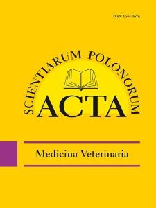 Acta Scientiarum Polonorum. Medicina Veterinaria 2, 2012