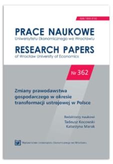 Ważne przyczyny wyłączenia wspólnika ze spółki z ograniczoną odpowiedzialnością. Prace Naukowe Uniwersytetu Ekonomicznego we Wrocławiu = Research Papers of Wrocław University of Economics, 2014, Nr 362, s. 160-181