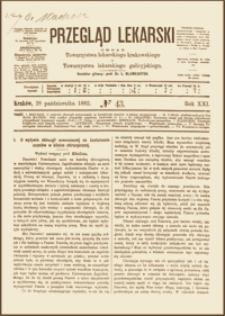 O wpływie chirurgii nowoczesnej na kształcenie uczniów w klinice chirurgicznej, Wykład wstępny prof. Mikulicza, Przegląd Lekarski, 1882, R. 21, nr 43, s. 569-572