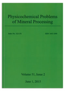 Physicochemical Problems of Mineral Processing. Vol. 51, 2015, Issue 2
