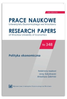 E-administracja a efektywność sektora publicznego. Prace Naukowe Uniwersytetu Ekonomicznego we Wrocławiu = Research Papers of Wrocław University of Economics, 2014, Nr 348, s. 200-209
