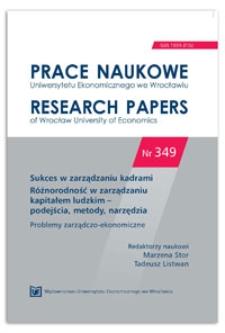 Różnorodność metod zarządzania marką osobistą. Prace Naukowe Uniwersytetu Ekonomicznego we Wrocławiu = Research Papers of Wrocław University of Economics, 2014, Nr 349, s. 454-462