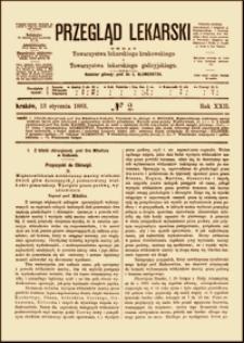 Mięśniakowłókniak śródścienny macicy wielkości dwóch głów dziecięcych i podsurowiczy wielkości pomarańczy. Wycięcie przez pochwę, wyzdrowienie, Przegląd Lekarski, 1883, R. 22, nr 2, s. 17-19
