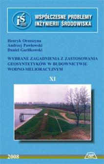 Wybrane zagadnienia z zastosowania geosyntetyków w budownictwie wodno-melioracyjnym