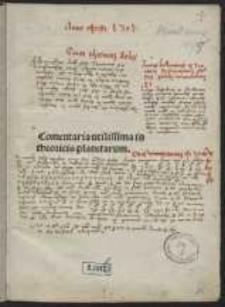 Commentum in Theoricas planetarum Georgii Purbachii, cum additione Ioannis Ottonis de Valle Vracensi
