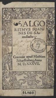 Algoritmus Ioannis de Sacro Busto