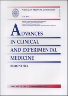 Advances in Clinical and Experimental Medicine, Vol. 18, 2009, nr 1