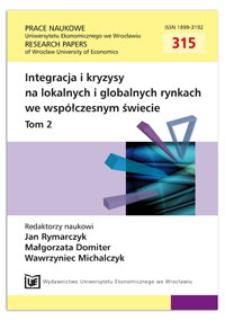 Integracja lokalnych rynków gospodarczych w odniesieniu do instytucji klastra gospodarczego. Prace Naukowe Uniwersytetu Ekonomicznego we Wrocławiu = Research Papers of Wrocław University of Economics, 2013, Nr 315, T. 2, s. 172-180