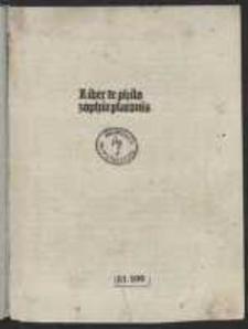 Liber de philosophia Platonis. Praec. Marsilius Ficinus: Argumentum in librum Platonis de philosophia