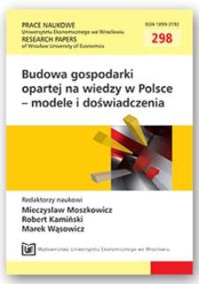 Wiedza i kompetencje w gospodarce. Prace Naukowe Uniwersytetu Ekonomicznego we Wrocławiu = Research Papers of Wrocław University of Economics, 2013, Nr 298, s. 120-127