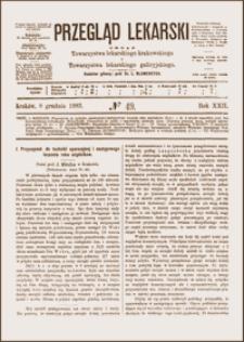 Przyczynek do techniki operacyjnej i następowego leczenia raka migdałków, Przegląd Lekarski, 1883, R. 22, nr 49, s. 609-610