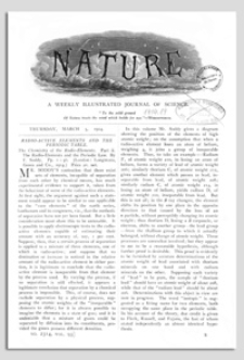 Nature : a Weekly Illustrated Journal of Science. Volume 93, 1914 May 14, [No. 2324]