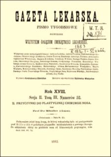 Przyczynki do plastycznej chirurgii nosa, Gazeta Lekarska, 1883, R. 18, nr 24, s. 453-459