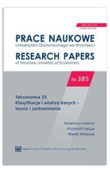 Problemy decyzyjne w funkcjonalnej analizie głównych składowych. Prace Naukowe Uniwersytetu Ekonomicznego we Wrocławiu = Research Papers of Wrocław University of Economics, 2015, Nr 385, s. 267-275