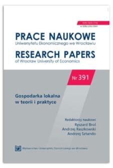 Zarządzanie partycypacyjne we wspólnotach lokalnych. Prace Naukowe Uniwersytetu Ekonomicznego we Wrocławiu = Research Papers of Wrocław University of Economics, 2015, Nr 391, s. 83-91
