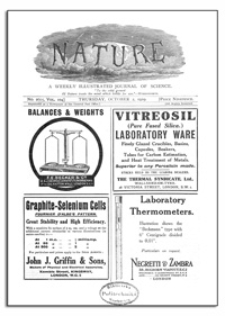 Nature : a Weekly Illustrated Journal of Science. Volume 104, 1919 October 2, [No. 2605]