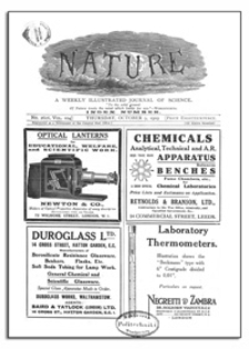 Nature : a Weekly Illustrated Journal of Science. Volume 104, 1919 October 9, [No. 2606]