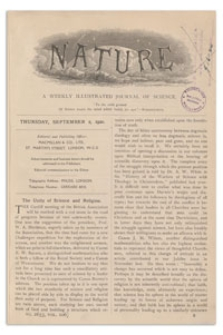 Nature : a Weekly Illustrated Journal of Science. Volume 106, 1920 November 11, [No. 2663]