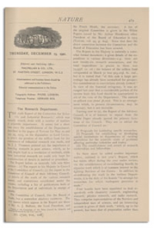 Nature : a Weekly Illustrated Journal of Science. Volume 108, 1921 December 15, [No. 2720]