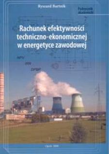 Rachunek efektywności techniczno-ekonomicznej w energetyce zawodowej