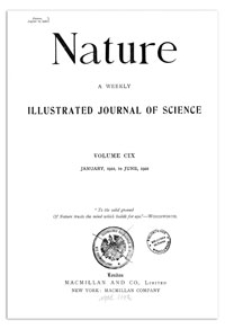 Nature : a Weekly Illustrated Journal of Science. Volume 109, 1922 April 15, [No. 2737]