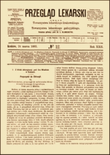 Skoliozometer, przyrząd do mierzenia skrzywienia bocznego kręgosłupa, Przegląd Lekarski, 1883, R. 22, nr 12, s. 141-143